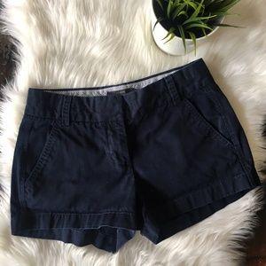 J. CREW Chino Khaki Shorts Navy Blue 00 EUC